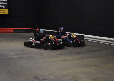 2 Gokarts racing at CABA event