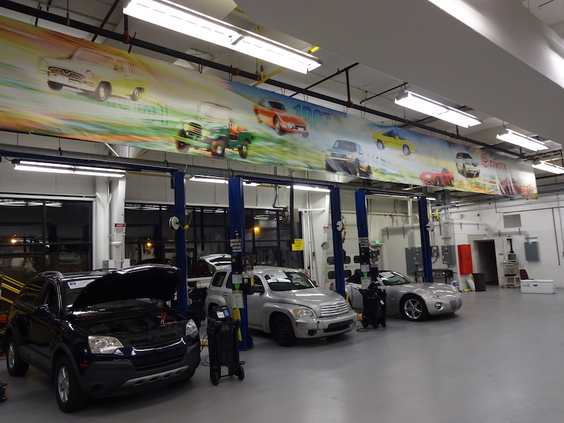 3 cars in auto shop